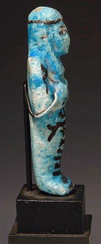 21: An Egyptian Glazed Faience Ushabti for Nes-nakht - 4