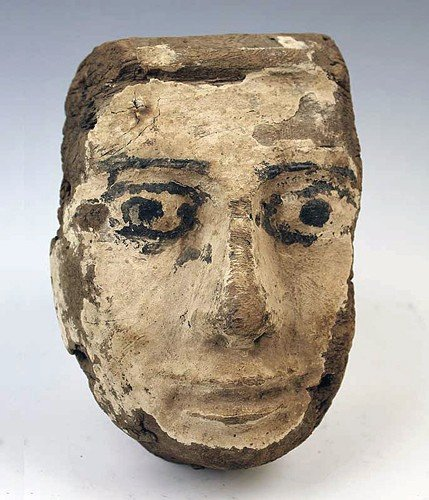 22: An Egyptian Wood Mummy Mask