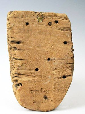 22: An Egyptian Wood Mummy Mask - 3