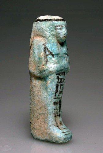 23: An Egyptian Glazed Faience Shabti