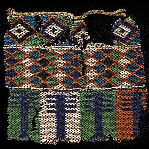 28: An Egyptian Bead Net for a Mummy (Partial)