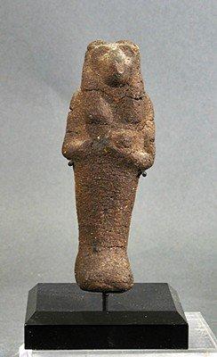 30: An Egyptian Sekhmet Figure, Cast Bee's Wax