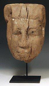 33: An Egyptian Wood Mummy Mask