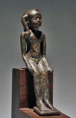 26B: An Egyptian Bronze Statuette of Harpokrates