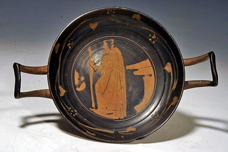 57: A Greek Attic Stemless Kylix Attributed to YZ Group