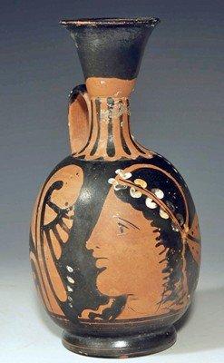 61: A Greek Apulian Red Figure Squat Lekythos
