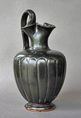 63: A Greek Campanian Blackware Oinochoe