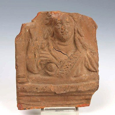 91: A Roman Terracotta Plaque of Isis