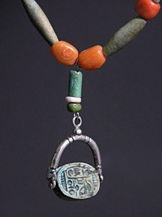 10A: An Egyptian Bead and Scarab Necklace, ex-Mitry