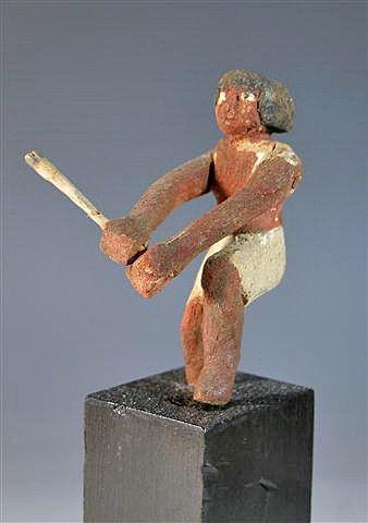 1A: An Egyptian Wood Male Oarsman Figure