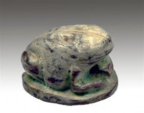 An Egyptian Scaraboid In The Form Of Toad