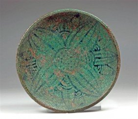 An Egyptian Faience Decorated Bowl
