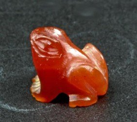 An Egyptian Frog In Carnelian