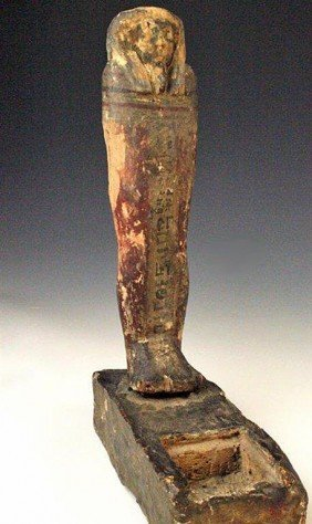 An Egyptian Wood Ptah-Sokar-Osiris For Tjetayet