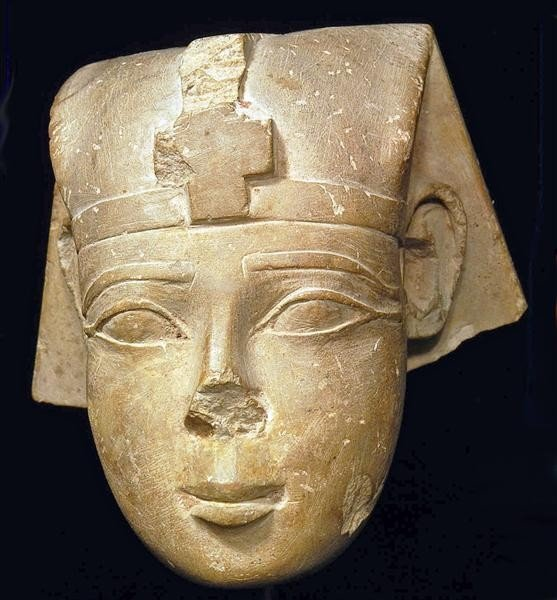 51: An Egyptian Limestone Head of Pharaoh ex-Bonham's