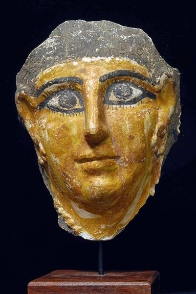 54: An Egyptian Cartonnage Mummy Mask