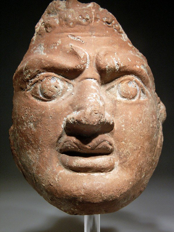 55: A Magnificent Roman-Egyptian Pottery Mask