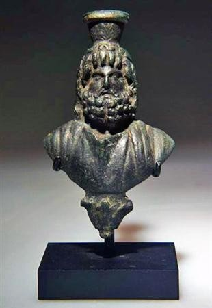 56: An Egyptian Bronze Bust of Sarapis, ex-Christie's