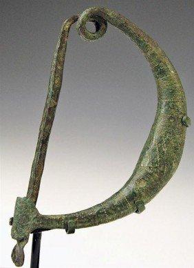 A Large Etruscan Bronze Fibula