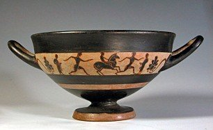 65: A Greek Attic Black-Figure Kylix