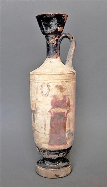 69: A Greek Attic White-Ground Lekythos