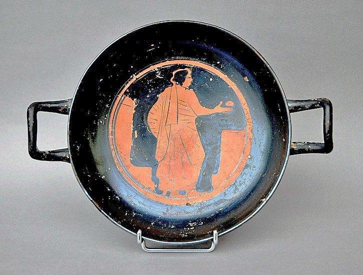 71: A Greek Attic Red-Figure Kylix