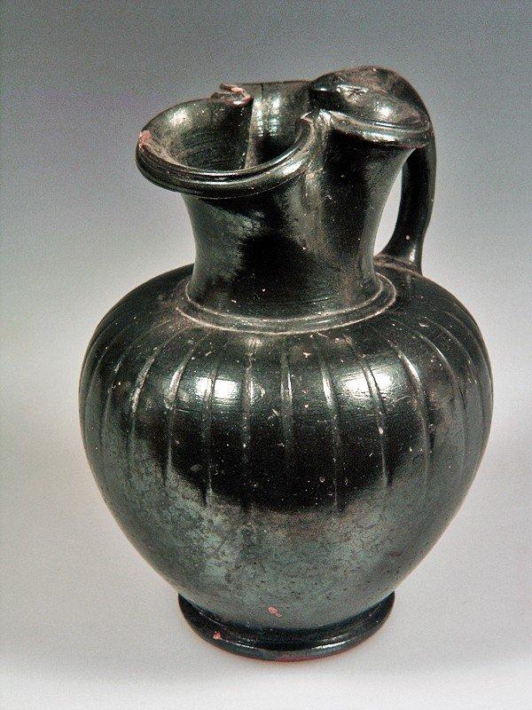 73: A Greek South Italian Blackware Trefoil Oinochoe