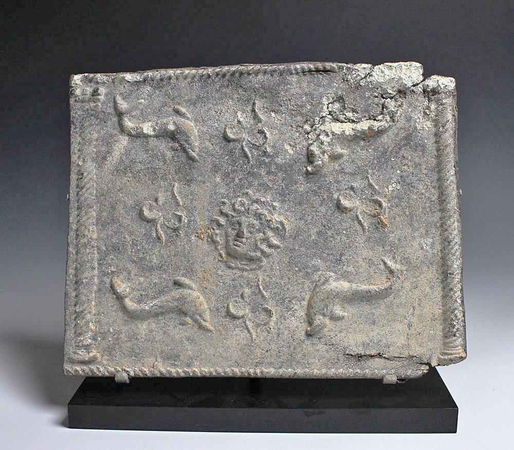 92: A Roman Lead Sarcophagus Panel