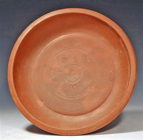 100: A Large Roman Red Slip Ware Pottery Plate