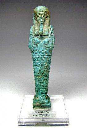 An Egyptian Ushabti Of Cha-ka-Ra - Published!