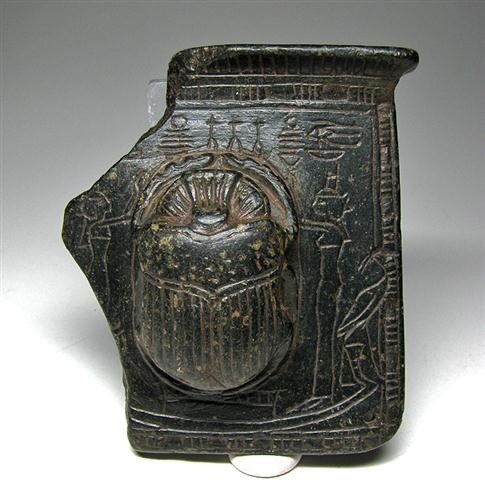 3a: An Egyptian Steatite Pectoral with Heart Scarab