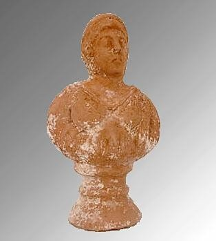 98A: A Large Roman Terracotta Bust of a Woman