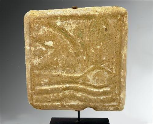 41C: An Egyptian Uzat Eye Tile Depicting Eye of Horus