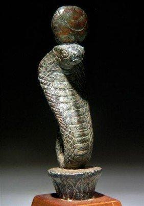 An Egyptian Bronze Cobra