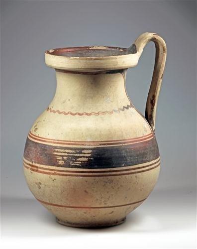 72C: A Daunian Painted Terracotta Handled Jug