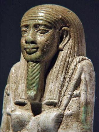 43B: An Egyptian Composite Faience Ushabti - Psamtek