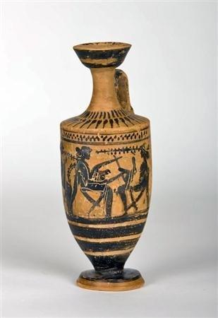 68A: A Greek Attic Black Figured Lekythos, ex-Drouot