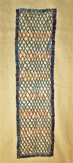 2: A Large Egyptian Faience Bead Net