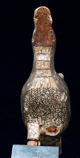 3: An Egyptian Polychrome Painted Wood Bird - 2