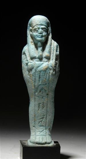 8: An Egyptian Faience Shabti 26th Dynasty