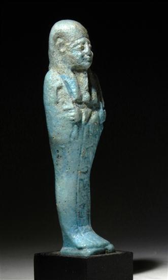 9: An Egyptian Faience Ushabti