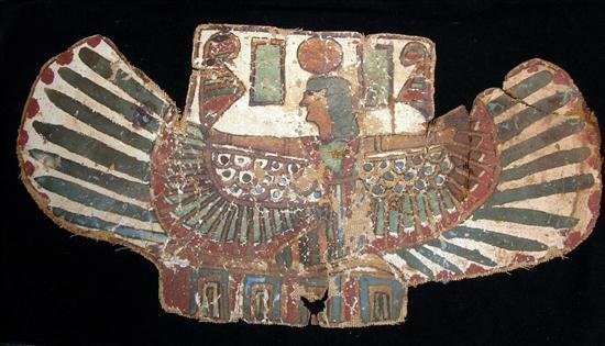 11: An Egyptian Cartonnage Pectoral Winged Isis