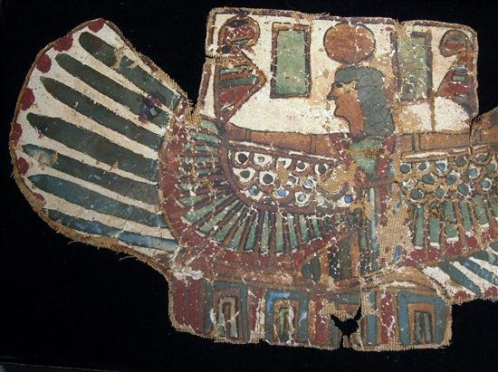11: An Egyptian Cartonnage Pectoral Winged Isis - 2