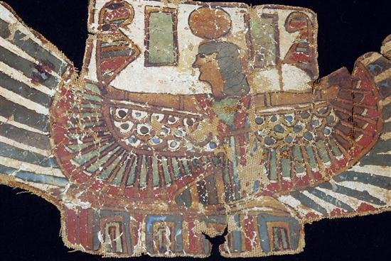 11: An Egyptian Cartonnage Pectoral Winged Isis - 3