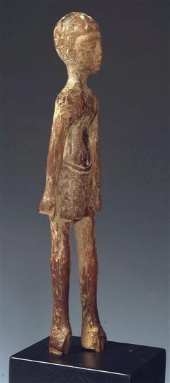 12: An Egyptian Wood Striding Male Figure