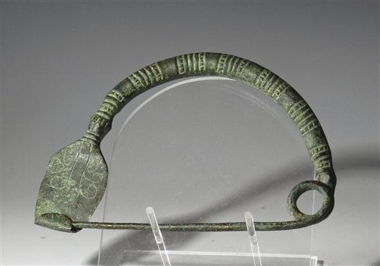 17: An Ancient Scythian Bronze Fibula - Large