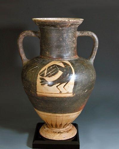 23: A Greek Corinthian Black-Figure Amphora