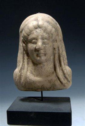 A Western Greek Pottery Protome Maskette