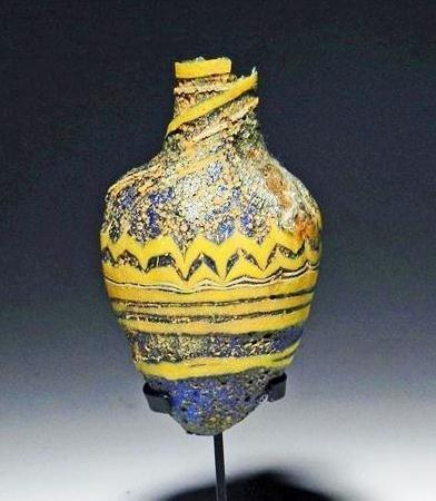 27: A Greek  Core Formed Glass Vessel