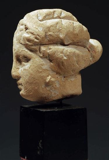 47: Ancient Hellenistic Greek Terracotta Tanagra Female